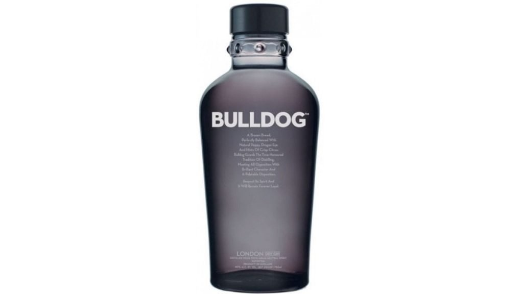 ginebra bulldog gin botella