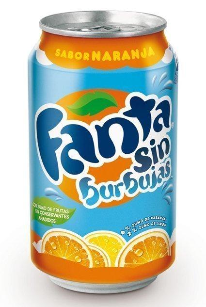 Fanta sin Burbujas sabor Naranja