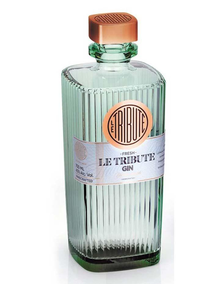 ginebra le tribute gin botella