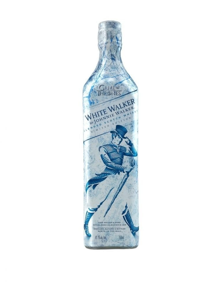 white walker whisky de johnnie walker la botella