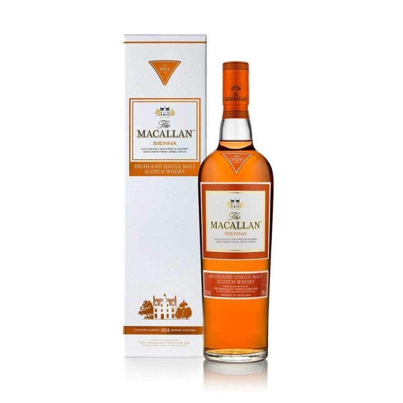 Macallan sienna whisky de malta botella