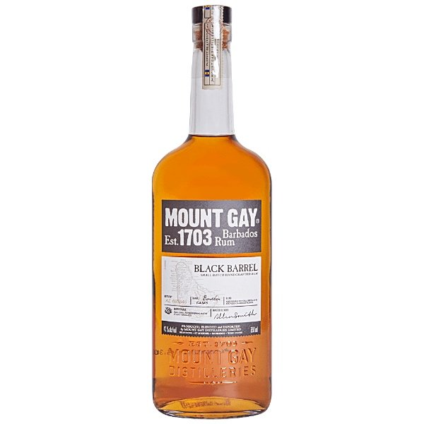 Mount gay black barrel ron añejo botella