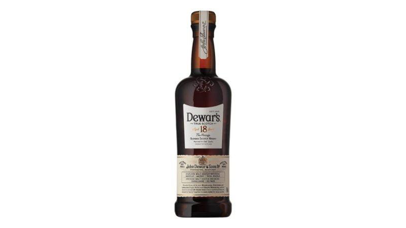 whisky dewars 18 años botella